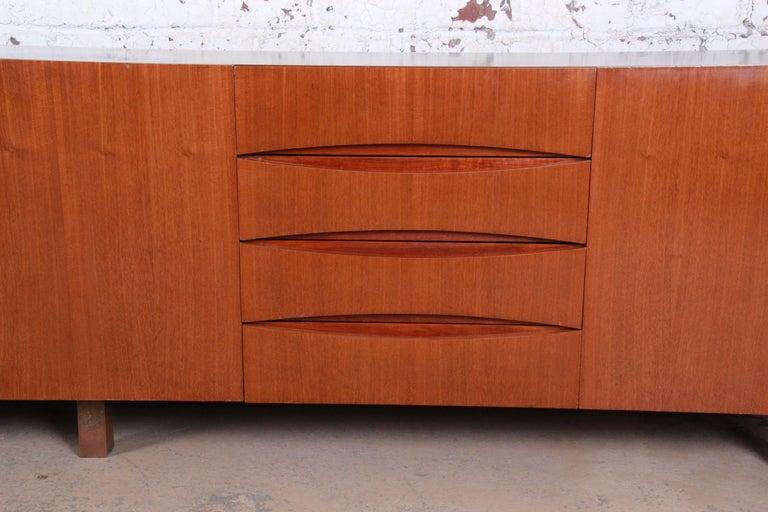 Arne Vodder Style Monumental Danish Teak Sideboard Credenza or Bar Cabinet For Sale 6