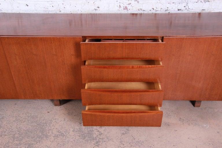 Arne Vodder Style Monumental Danish Teak Sideboard Credenza or Bar Cabinet For Sale 7