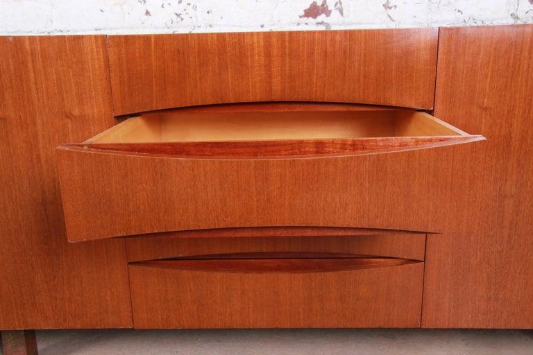 Arne Vodder Style Monumental Danish Teak Sideboard Credenza or Bar Cabinet For Sale 10