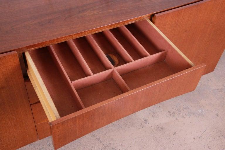 Arne Vodder Style Monumental Danish Teak Sideboard Credenza or Bar Cabinet For Sale 11