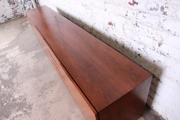 Arne Vodder Style Monumental Danish Teak Sideboard Credenza or Bar Cabinet For Sale 13