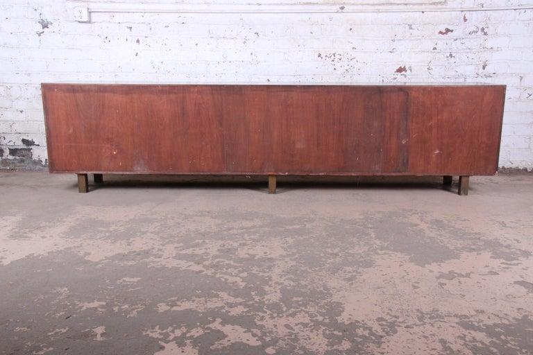 Arne Vodder Style Monumental Danish Teak Sideboard Credenza or Bar Cabinet For Sale 14