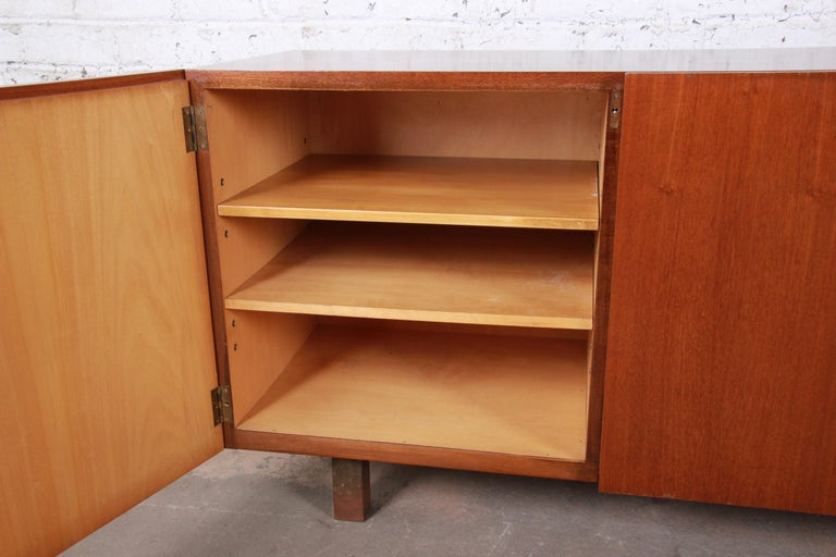 Arne Vodder Style Monumental Danish Teak Sideboard Credenza or Bar Cabinet For Sale 2