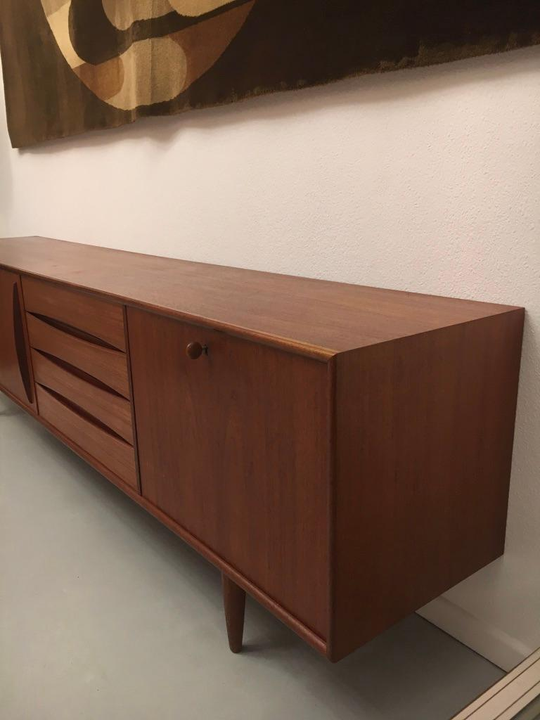 Arne Vodder Teak Sideboard Produced by Pfister Mobel Switzerland, circa 1960 For Sale 12