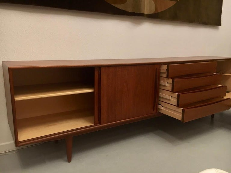 Arne Vodder Teak Sideboard Produced by Pfister Mobel Switzerland, circa 1960 For Sale 3