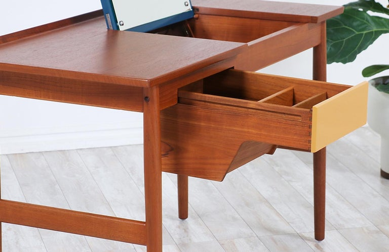 Arne Vodder Teak Vanity / Writing Desk for Sibast Møbler 4