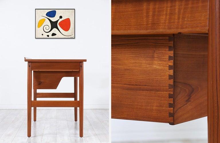 Arne Vodder Teak Vanity / Writing Desk for Sibast Møbler 7
