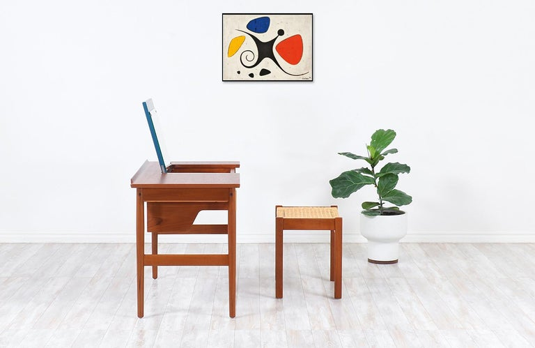 Danish Arne Vodder Teak Vanity / Writing Desk for Sibast Møbler