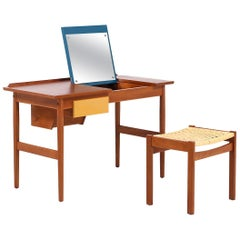 Arne Vodder Teak Vanity / Writing Desk for Sibast Møbler