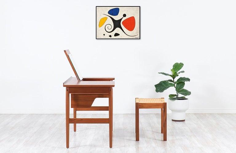 Danish Arne Vodder Teak Wood Vanity / Writing Desk for Sibast Møbler