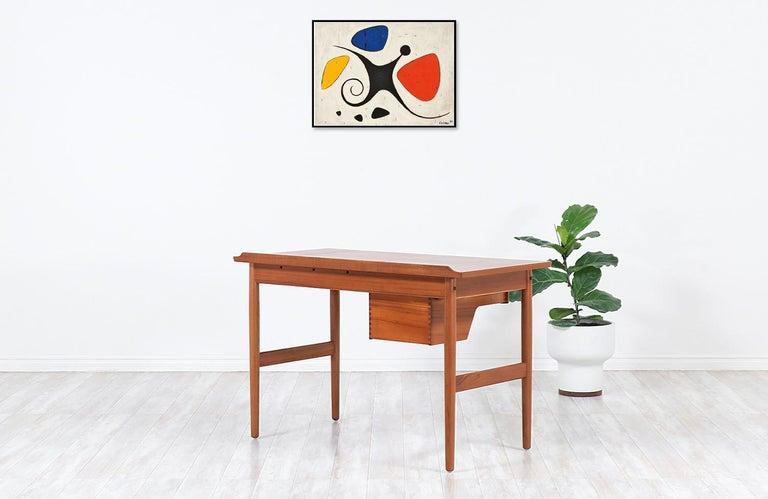 Arne Vodder Teak Wood Vanity / Writing Desk for Sibast Møbler In Excellent Condition In Los Angeles, CA