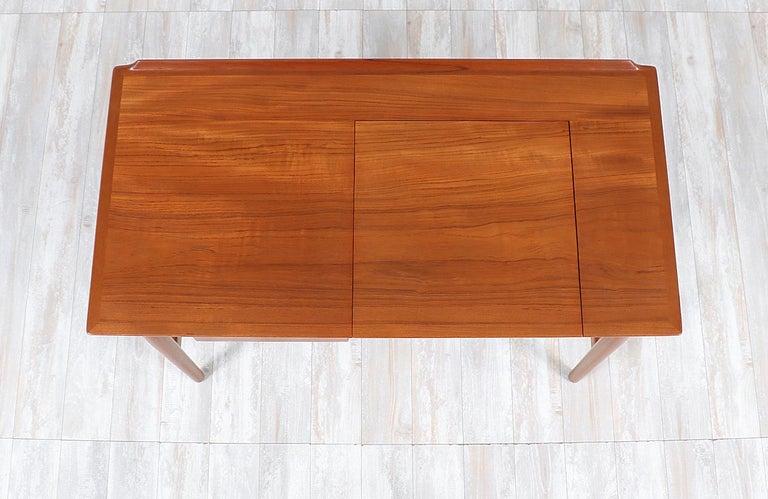 Mid-20th Century Arne Vodder Teak Wood Vanity / Writing Desk for Sibast Møbler