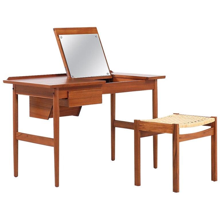 Arne Vodder Teak Wood Vanity / Writing Desk for Sibast Møbler