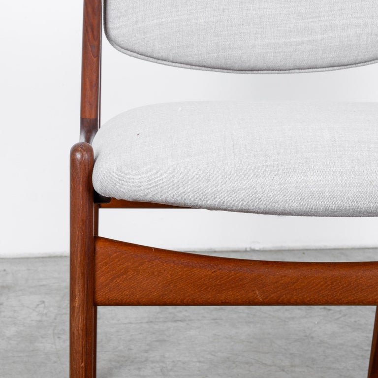 Arne Vodder Upholstered Teak Side Chairs, a Pair For Sale 3