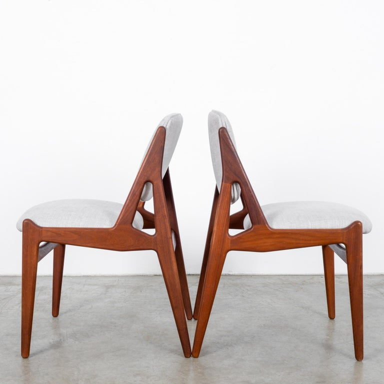 Danish Arne Vodder Upholstered Teak Side Chairs, a Pair For Sale