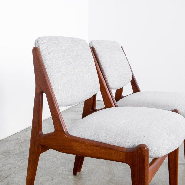 Arne Vodder Upholstered Teak Side Chairs, a Pair For Sale 1