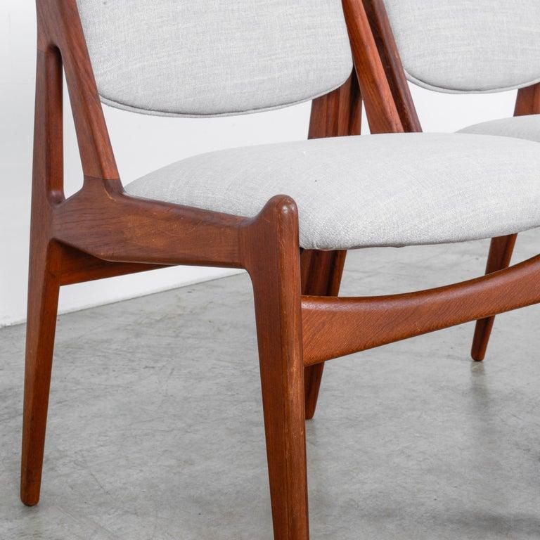 Arne Vodder Upholstered Teak Side Chairs, a Pair For Sale 2