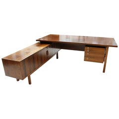 Arne Vodder Wood Drawers Sideboard Desk, Denmark, 1960