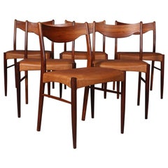 Arne Wahl Dining Chairs, Set of 6