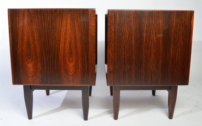 Arne Wahl Iversen Brazilian Rosewood Nightstands Having Tambour Doors For Sale 5