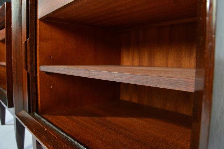 Late 20th Century Arne Wahl Iversen Brazilian Rosewood Nightstands Having Tambour Doors For Sale