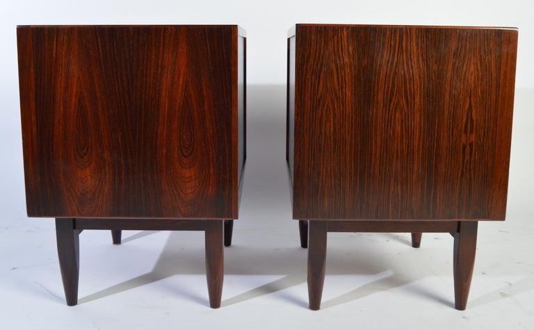 Arne Wahl Iversen Brazilian Rosewood Nightstands Having Tambour Doors For Sale 3