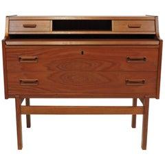 Arne Wahl Iversen Danish Modern Teak Secretary Desk Model 70