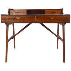 Arne Wahl Iversen Desk Model 64 in Rosewood for Vinde Møbelfabrik, Denmark 1960s