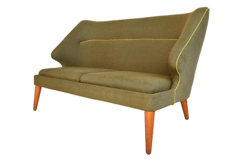 Arne Wahl Iversen Flamingo Model 15 Loveseat For Sale 1