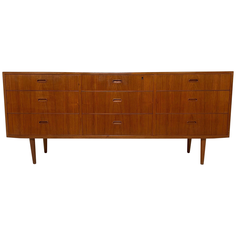 Arne Wahl Iversen for Falster Danish Teak Nine-Drawer Dresser, circa 1960s