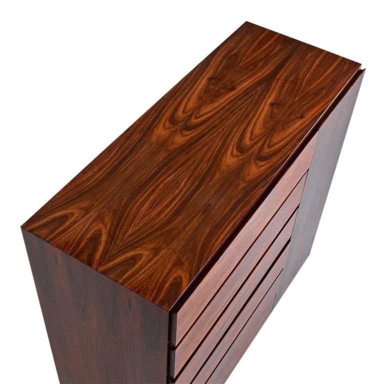 Danish Rosewood Gentleman's Dresser, Arne Wahl Iversen for Vinde Møbelfabrik For Sale 2