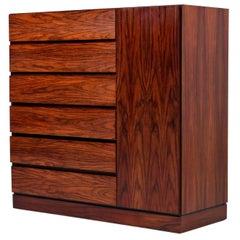 Arne Wahl Iversen for Vinde Mobelfabrik Danish Rosewood Gentleman's Dresser