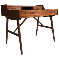 Arne Wahl Iversen Model 64 Teak Desk, Denmark, 1960