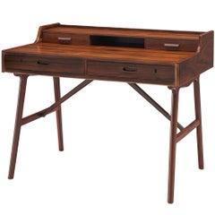 Arne Wahl Iversen Refinished Desk in Rosewood for Vinde Møbelfabrik
