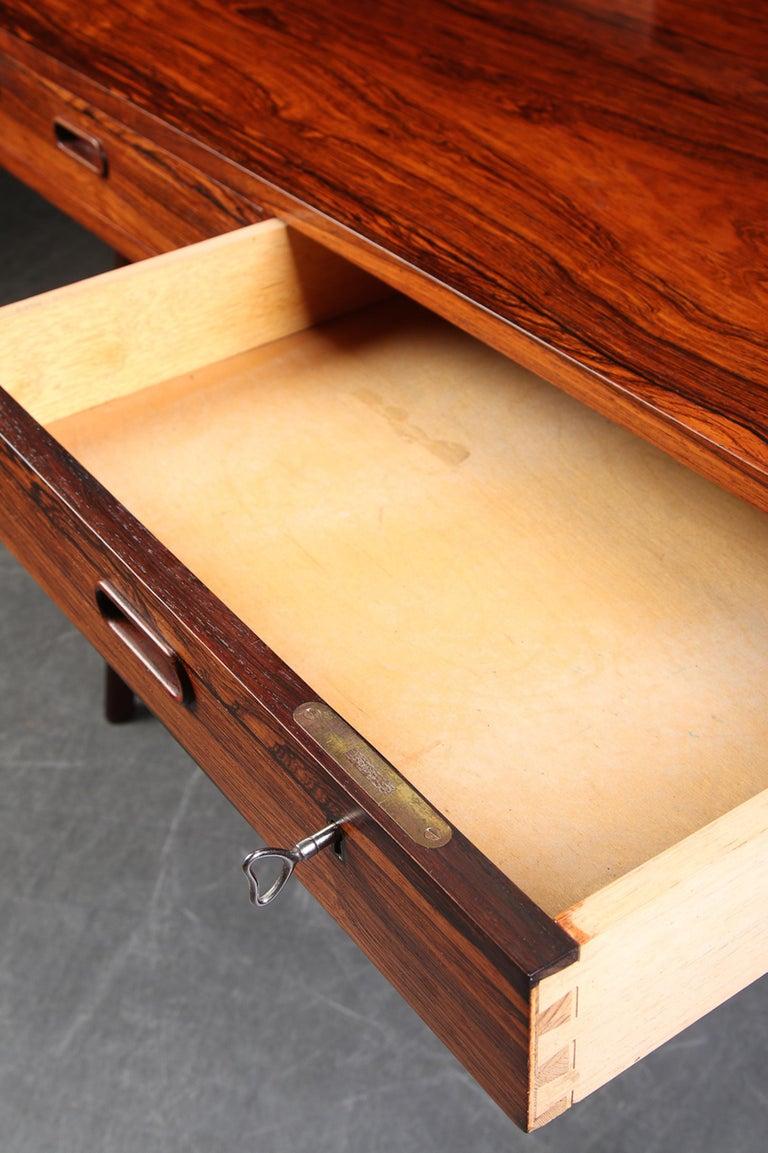 Arne Wahl Iversen Rosewood Desk, 1970 For Sale 4