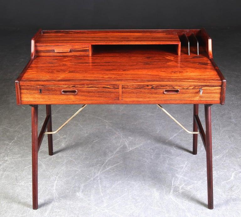 Danish Arne Wahl Iversen Rosewood Desk, 1970 For Sale