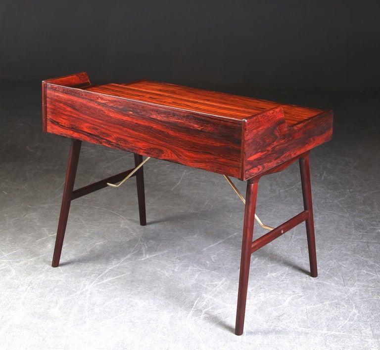 Arne Wahl Iversen Rosewood Desk, 1970 For Sale 1
