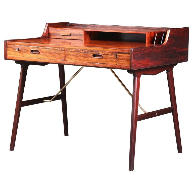 Arne Wahl Iversen Rosewood Desk, 1970 For Sale
