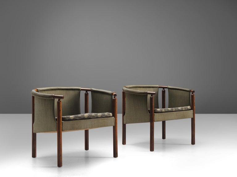 Scandinavian Modern Arne Wahl Iversen Set of Rosewood Armchairs For Sale