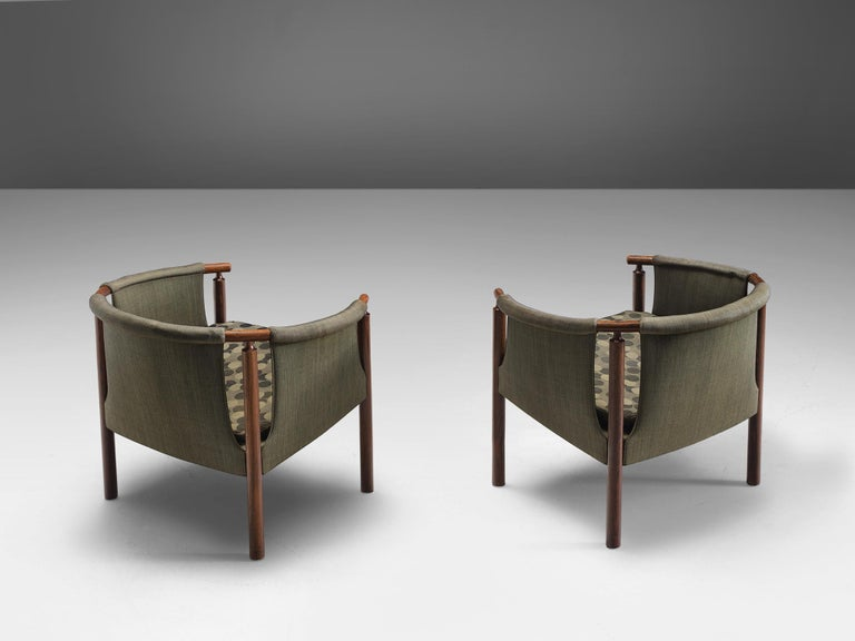 Danish Arne Wahl Iversen Set of Rosewood Armchairs For Sale
