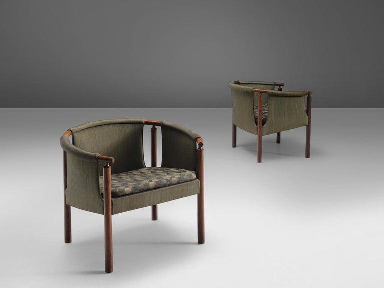 Arne Wahl Iversen Set of Rosewood Armchairs In Good Condition For Sale In Waalwijk, NL