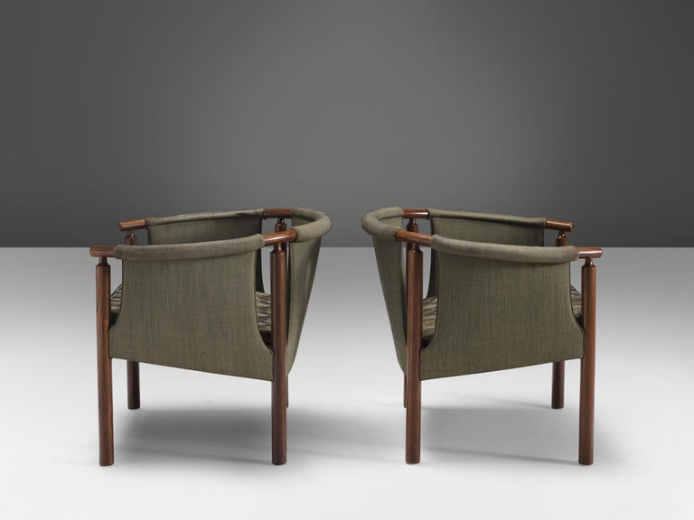 1950s Arne Wahl Iversen Set of Rosewood Armchairs For Sale