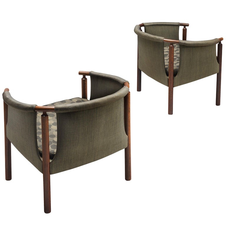 Arne Wahl Iversen Set of Rosewood Armchairs For Sale