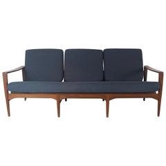 Arne Wahl Iversen Sofa for Komfort in Rosewood, Denmark, 1950s