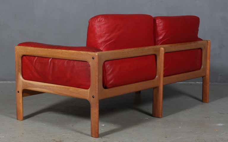 Leather Arne Wahl Iversen, Two Seat Sofa For Sale