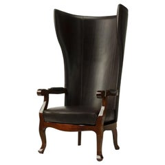 Arne XV Armchair in dark brown leather
