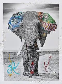 Legend - Hand-embellished photo Maasai Mara National Reserve - Arno Elias