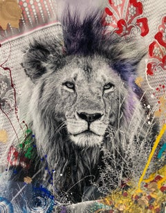 Leone - Hand-embellished photograph by Arno Elias