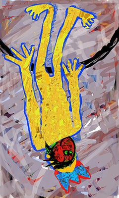 Fallen Angel, Arno Hoth, digital painting, print on fine art paper