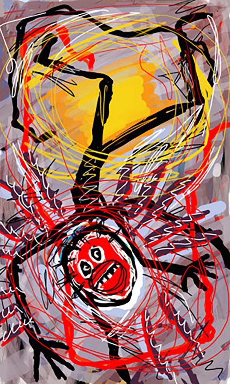 Ikarus, Arno Hoth, digital painting, print on fine art paper